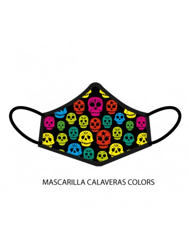 MASCARILLA CALAVERAS COLORS